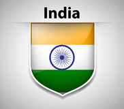 Flag on India on badge Stock Images