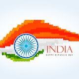 Flag of india creative vector design illustration. Flag of india creative vector illustration Royalty Free Stock Image