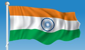 Flag of India. Vector illustration Royalty Free Stock Image
