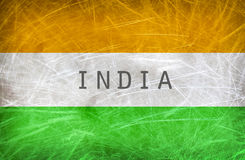 Flag of India. Grunge postcard Royalty Free Stock Photography