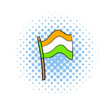 Flag of India icon in comics style Stock Photos