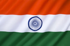 Flag of India. The National Flag of India - It was adopted in its present form during a meeting of the Constituent Assembly held on 22 July 1947, when it became Stock Photography