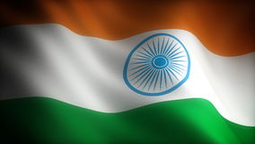 Flag of India stock video