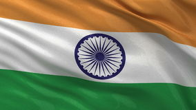 Flag of India seamless loop Royalty Free Stock Photography