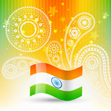 Flag of india. Stylish flag of india with space for your text Royalty Free Stock Photos