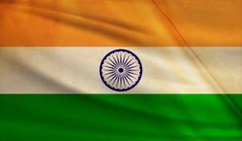 Flag of India. Vintage background with flag of India. Grunge style royalty free illustration