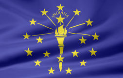 Flag of Indiana stock illustration