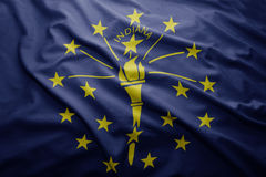 Flag of Indiana state Royalty Free Stock Images