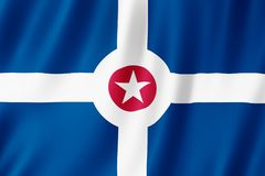 Flag of Indianapolis city, Indiana US stock illustration