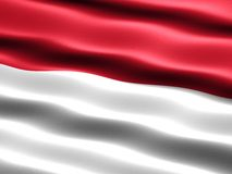 Flag of Indonesia. Computer generated illustration with silky appearance and waves stock illustration