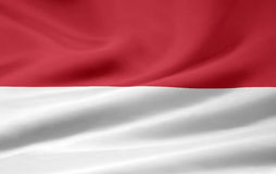 Flag of Indonesia Royalty Free Stock Photography