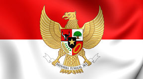 Flag of Indonesia. 3D Flag of the Indonesia. Close Up vector illustration