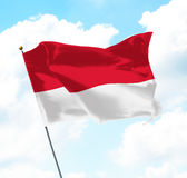 Flag of Indonesia Royalty Free Stock Image