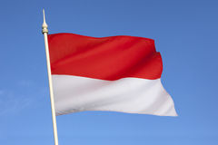Flag of Indonesia - South East Asia Royalty Free Stock Images