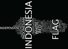 Flag Of Indonesia Text Background  Word Cloud Concept Royalty Free Stock Photography