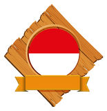 Flag of Indonesia on wooden board Royalty Free Stock Image