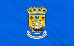 Flag of Inverclyde council of Scotland, United Kingdom of Great. Flag of Inverclyde is one of 32 council areas used for local government in Scotland royalty free stock photography
