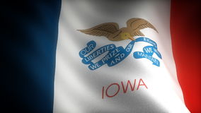 Flag of Iowa Royalty Free Stock Photography