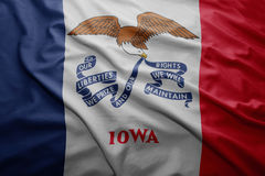 Flag of Iowa state Royalty Free Stock Photos