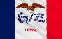 Flag of Iowa, USA. Flag of Iowa is a U.S. state in the Midwestern United States Royalty Free Stock Photos
