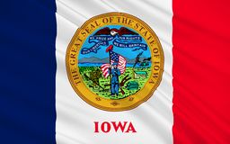 Flag of Iowa, USA. Flag of Iowa is a U.S. state in the Midwestern United States Royalty Free Stock Image