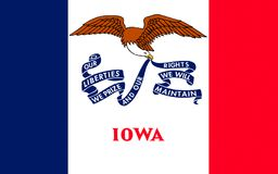 Flag of Iowa, USA stock photo