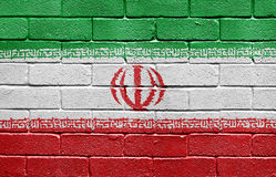Flag of Iran on brick wall Royalty Free Stock Images