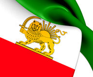 Flag of Iran (1964-1980) Royalty Free Stock Photography