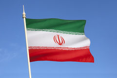 Flag of Iran. The current flag of Iran was adopted on 29 July 1980, and is a reflection of the changes brought about by the Iranian Revolution Royalty Free Stock Photography