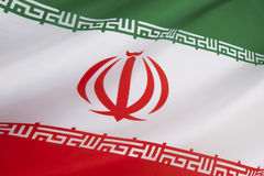 Flag of Iran. The current flag of Iran was adopted on 29 July 1980, and is a reflection of the changes brought about by the Iranian Revolution Royalty Free Stock Images