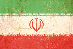 Flag of iran grunge Royalty Free Stock Photography