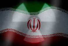 Flag of Iran with nuclear symbol vector illustration
