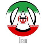 Flag of Iran of the world in the form of a sign of anarchy vector illustration
