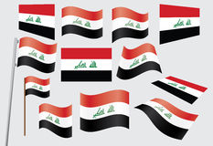Flag of Iraq. Set of flags of Iraq vector illustration Royalty Free Stock Photos