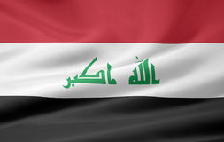 Flag of Iraq. Very large version of a iraqi flag Stock Photos