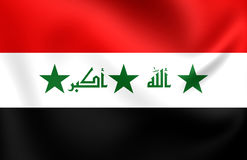 Flag of Iraq 2004-2008. Close Up Stock Image