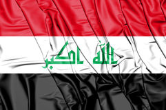 Flag of the Iraq. 3D Illustration. Stock Image