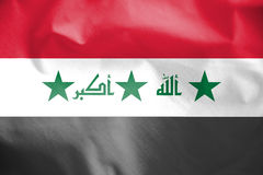 Flag of Iraq 2004-2008. 3d Rendered Flag of Iraq 2004-2008 stock illustration