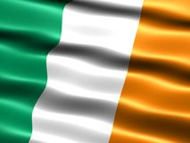 Flag of Ireland. Computer generated illustration of the flag of Ireland with silky appearance and waves stock illustration