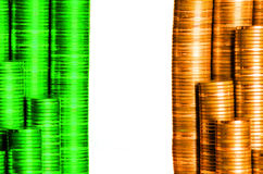 Flag ireland. Build with coins Royalty Free Stock Image