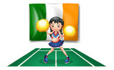 The flag of Ireland and the cheerdancer Royalty Free Stock Photography