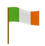 Flag of Ireland, icon flat style. St. Patrick`s Day symbol. Isolated on white background.  Stock Photo