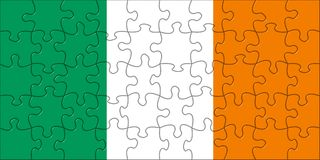 Flag of  Ireland puzzle Royalty Free Stock Images