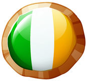 Flag of Ireland in round frame Royalty Free Stock Image