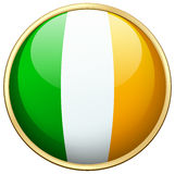 Flag of Ireland in round icon Royalty Free Stock Photography
