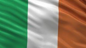 Flag of Ireland - seamless loop stock video footage