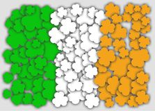 Flag of ireland shamrock Royalty Free Stock Photography