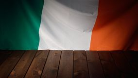 Flag of the Ireland with wooden boards. Royalty Free Stock Images