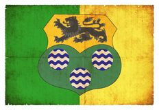 Grunge flag of Leitrim Ireland Royalty Free Stock Photography