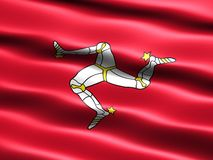 Flag of the Isle of Man. Computer generated illustration of the flag of the Isle of Man with silky appearance and waves stock illustration